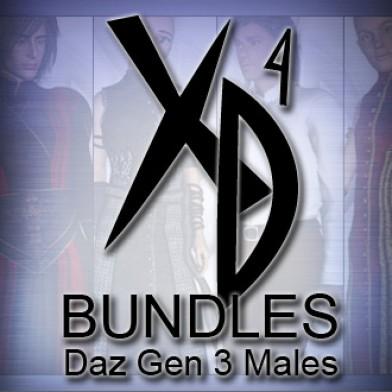 Daz Gen 3 Males CrossDresser Bundle Image