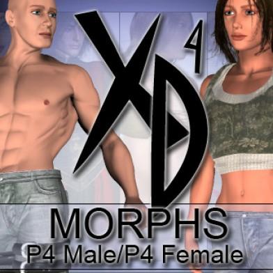 P4 Male P4 Female XD Morphs Image