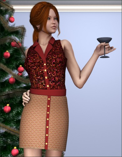 Holidays: Button Down Dress Xmas Image