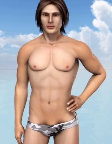 Camo Textures for Swim Brief Image