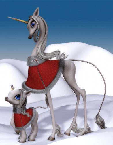 Holidays: Unicorn Winter Cloak Xmas Image
