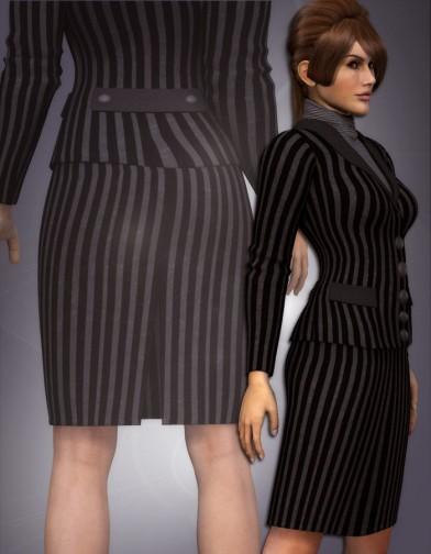 Knee Length Back-Slit Pencil Skirt for Dawn image