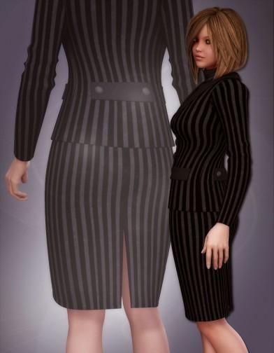Knee Length Back-Slit Pencil Skirt for V4 image