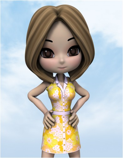 Button Down Dress for Cookie Image