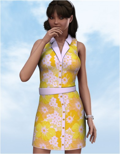 Button Down Dress for V4 Image