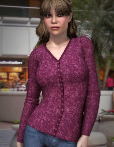 Long Sleeve Button Closure Cardigan for V4 Image