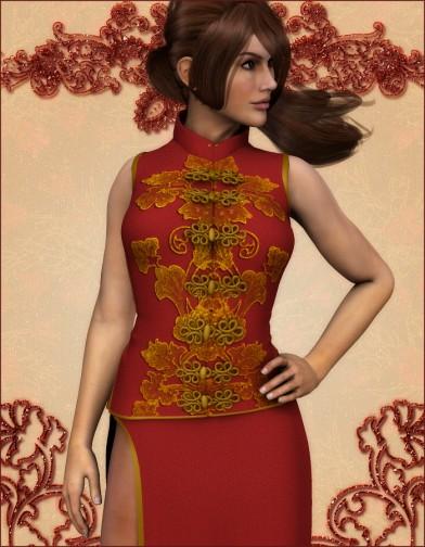Crimson Flower Dress for Dawn Image
