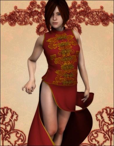Crimson Flower Dress for Roxie Image