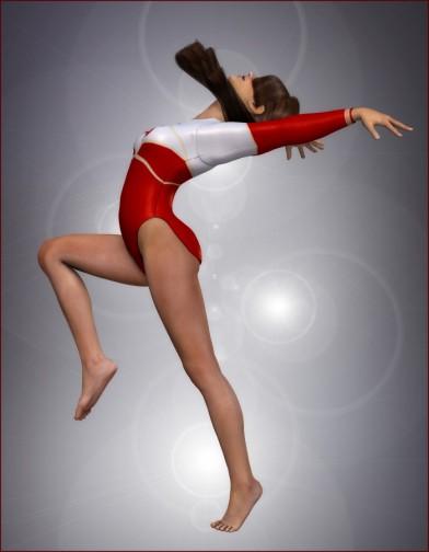 School Spirit: Gymnast Poses for Dawn Image