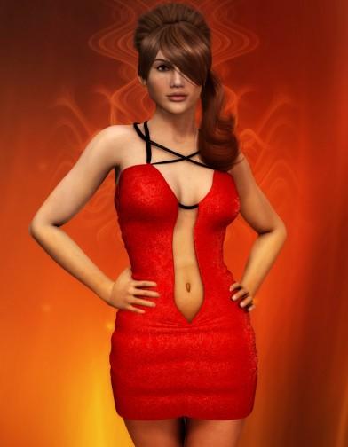 Devilish Short Red Dress for Dawn image