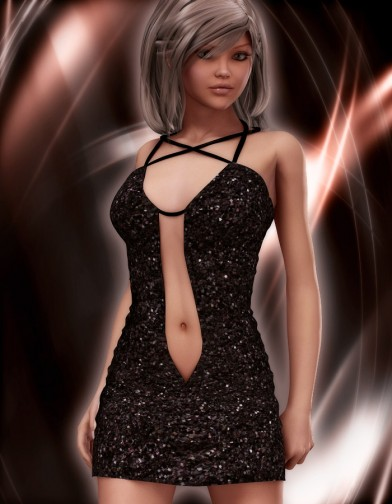 Sparkle Textures for Devilish Short Red Dress image