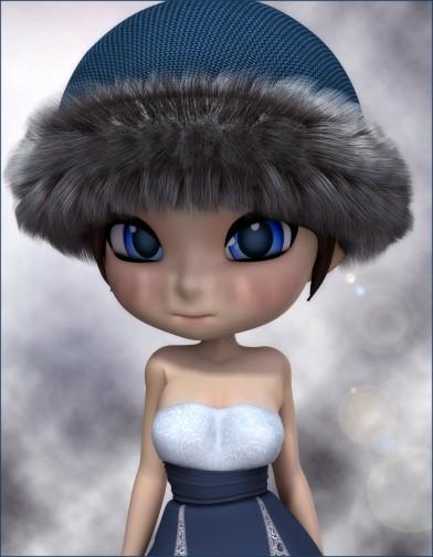 Fur Trim Hat for Cookie Image