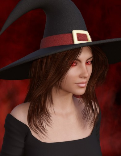 Witch Hat for Genesis 3 Female image