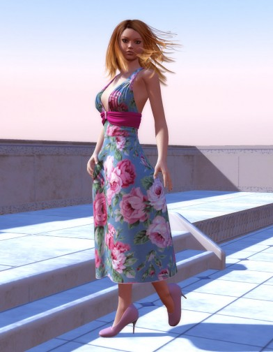 Sundress Textures for the Jingle Bell Dress