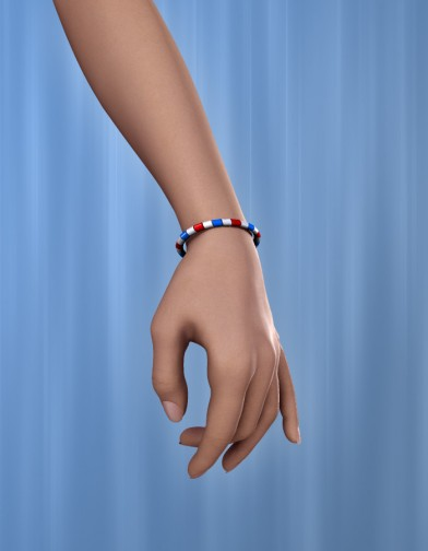 Holidays: Beaded Bracelet & Anklet July4 Image
