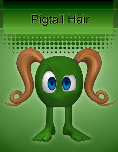 Pigtail Hair for Rounds