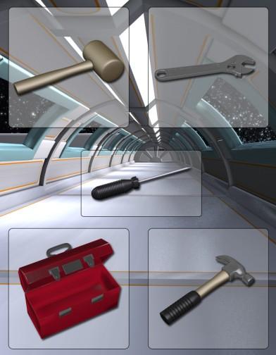 Space Defenders Solar Patrol: Mechanic Tools Image