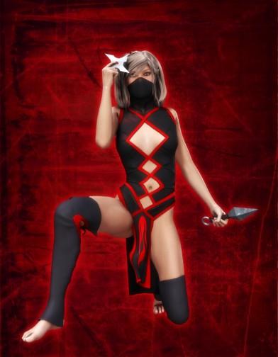 Ninja Weapons Poses for V4 Image