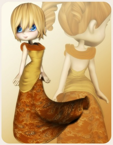 Autumn Ball Dress for Cookie Image
