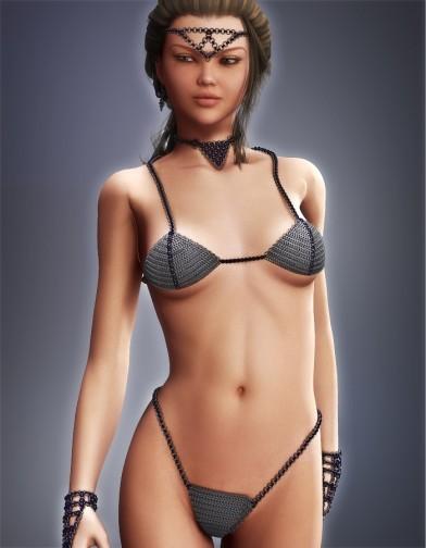 Chainmail Bikini Top for V4