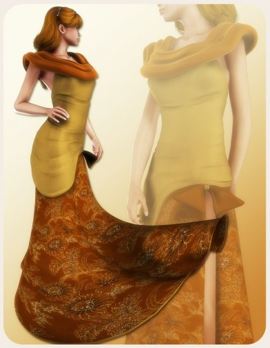 Autumn Ball Dress for V4 Image