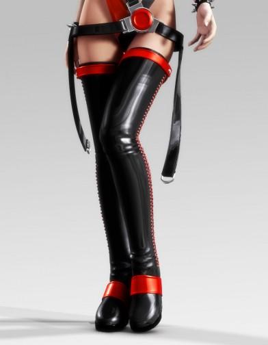 Night Slayers: Black Ice Boots for V4 Image
