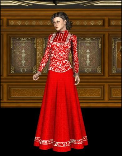 Governess Dress for V4 Image