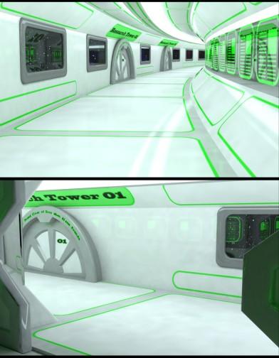 Lunar Science Station: Rim Corridor