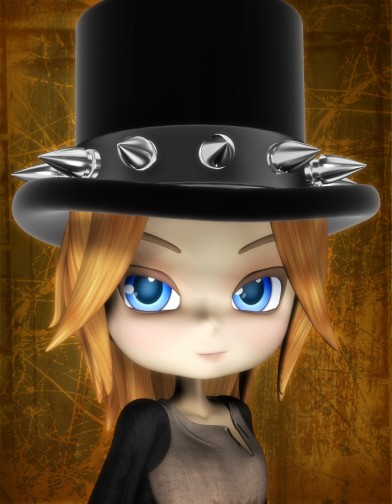 Goth Top Hat for Cookie Image