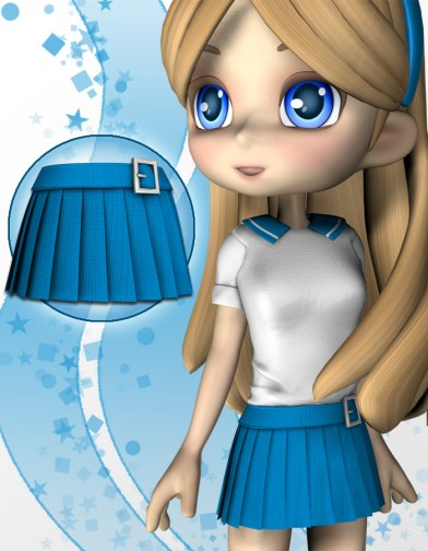 School Girl Skirt 1 for Cookie Image
