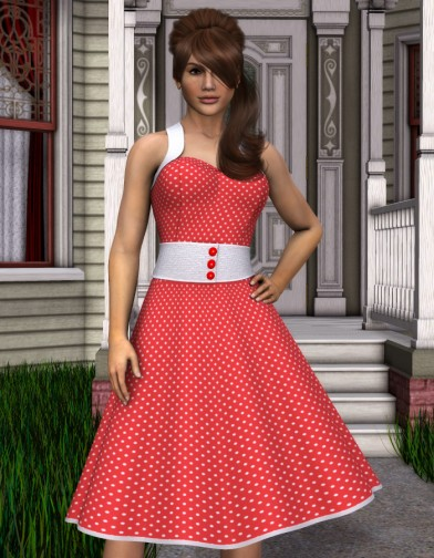 Nostalgia: 1950's Housewife Dress for Dawn Image