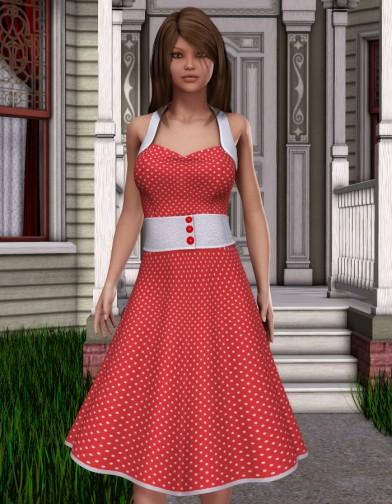 Nostalgia: 1950's Housewife Dress for V4 Image