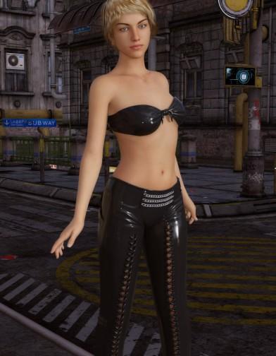 Night Slayers: Shadow Pants for Genesis 8 Female image