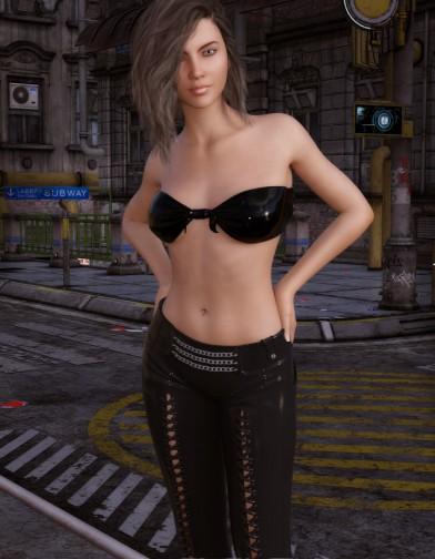 Night Slayers: Shadow Pants for Genesis 3 Female image