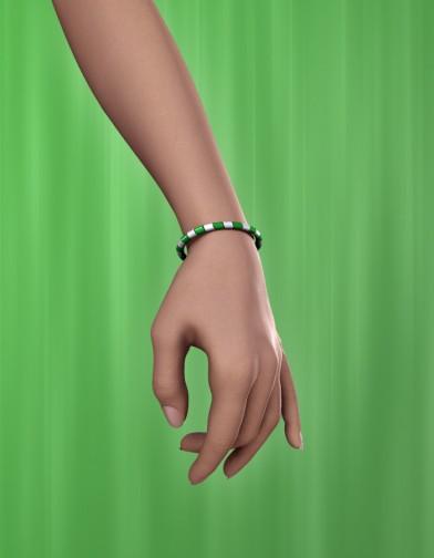Holidays: Beaded Bracelet & Anklet St. Patty Image