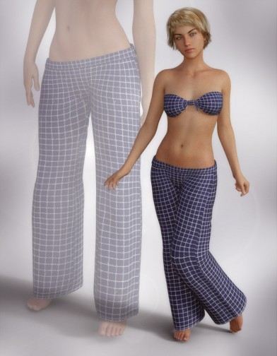 Sleepwear: Pajama Pants for Genesis 8 Female