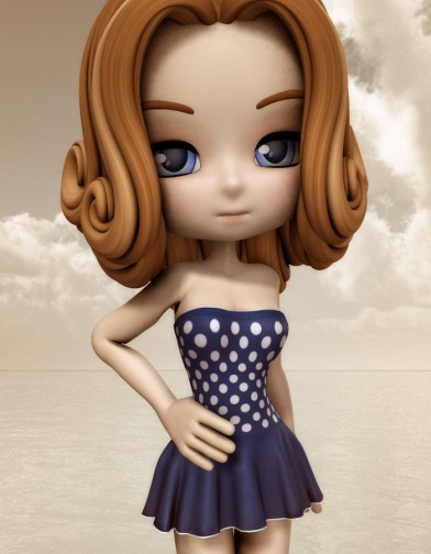 Nostalgia: Polka Dot Swim Dress for Cookie image