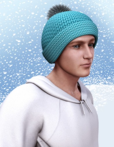 Winter Knit Hat with Pom Pom for M4 image
