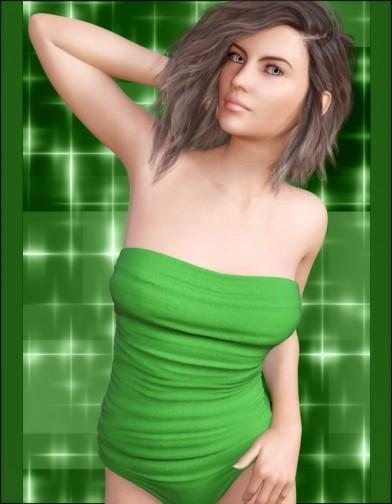 Shamrock Suit for Genesis 3 Female image