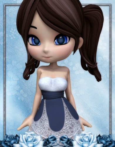 SnowFlower Lace Dress for Cookie Image