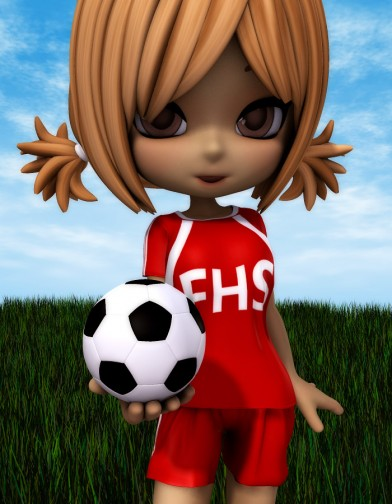 School Spirit: Soccer Uniform for Cookie Image