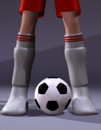 School Spirit: Soccer Socks and Shin Guards for Chip Image