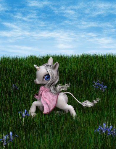 Spring Cloak for the Baby Unicorn Image