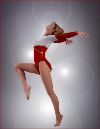 School Spirit: Gymnast Poses for V4 Image