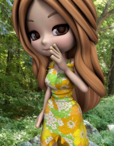 Spring Floral Sundress for Cookie image