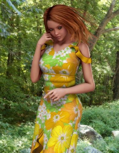 Spring Floral Sundress for V4 image
