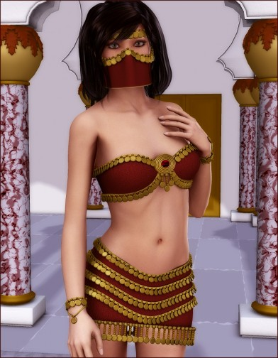 Thousand Nights: Desert Gem Skirt for V4 Image