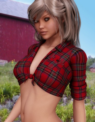 Tied Flannel Shirt for V4 image