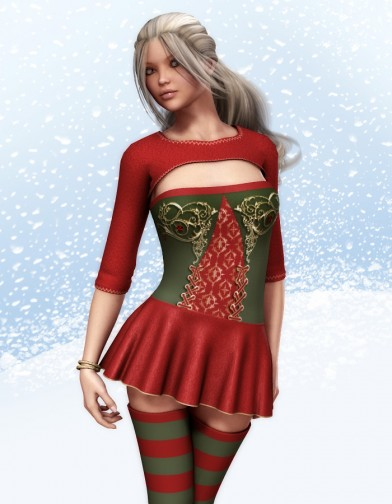 Holidays: Polka Dot Swim Dress Xmas texture