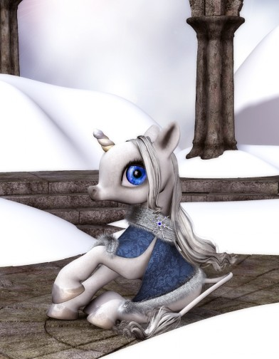 Winter Cloak for Baby Unicorn Image